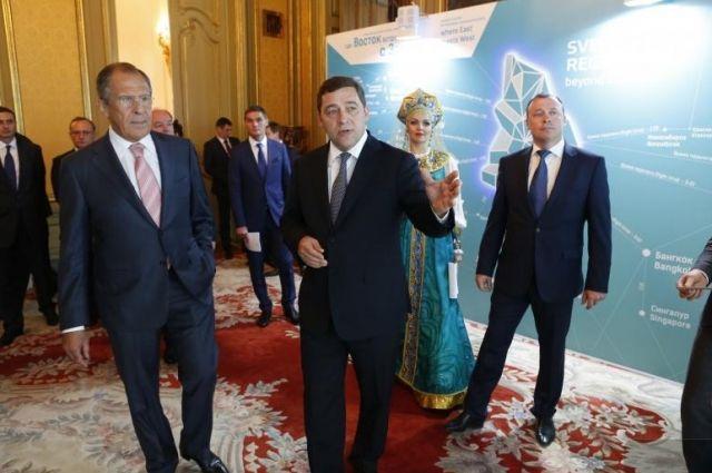 Губернатор провел презентацию Свердловской области в МИД