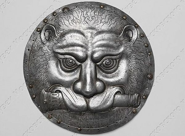 Московские пушкари носили поверх кафтанов особые металлические круги - аламы, которые представляли собой часть зерцального (нагрудного) доспеха.