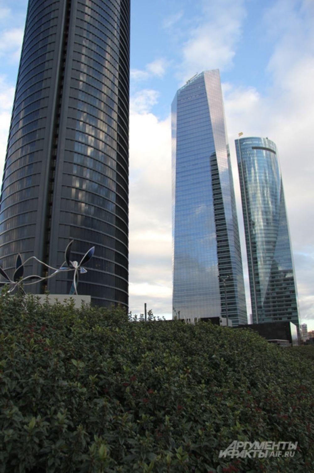 Мадридский сити - это всего 4 небоскрёба.