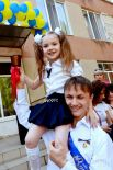 Торжественная линейка по случаю окончания школы в Одессе