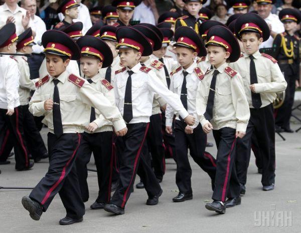 Последний звонок в школе-интернате «Кадетский корпус» в Киеве
