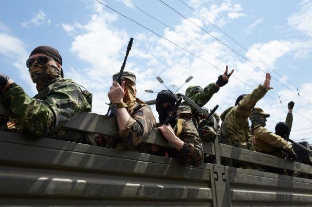 Боевики в Славянске