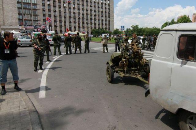 В центре Донецка