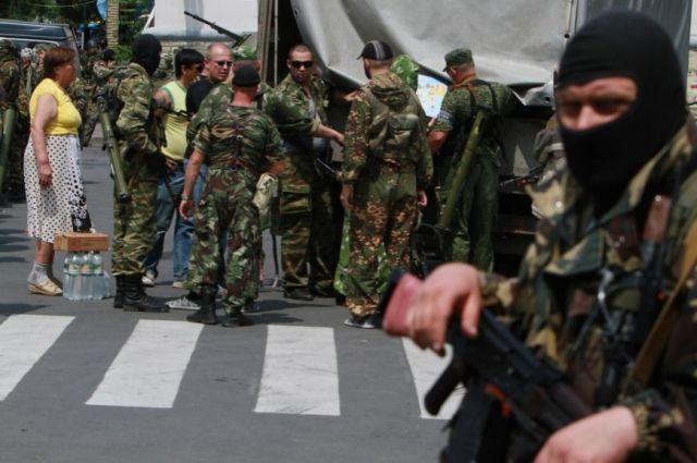 Боевики в Донецке