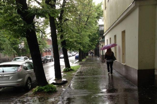 Дождливая городская улица
