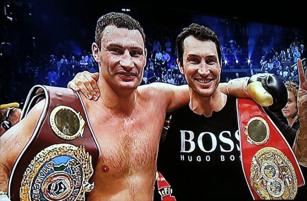 На выставке можно посмотреть фильм о том, как братья Кличко делали карьеру в профессиональном боксе