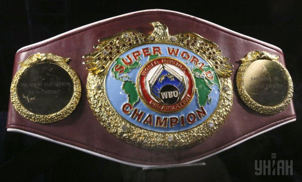 Чемпионский пояс WBO. Владимир Кличко дважды выигрывал этот пояс – в 2000 и 2008 годах