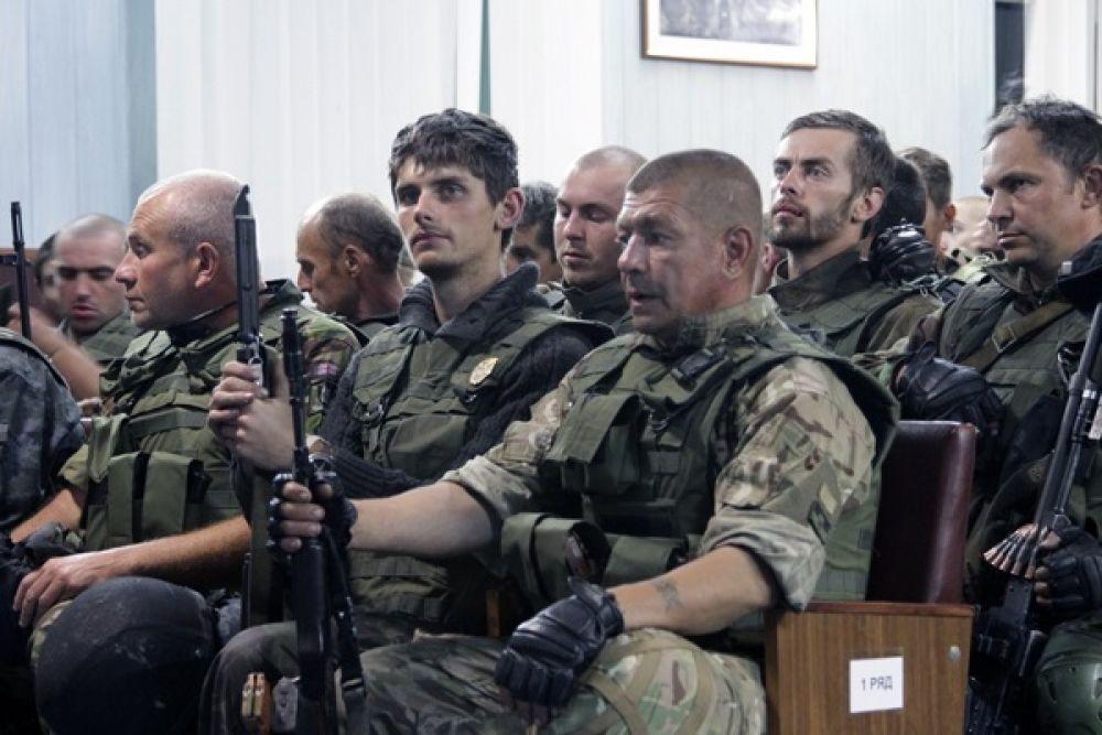 Бойцы Нацгвардии вернулись в Киев