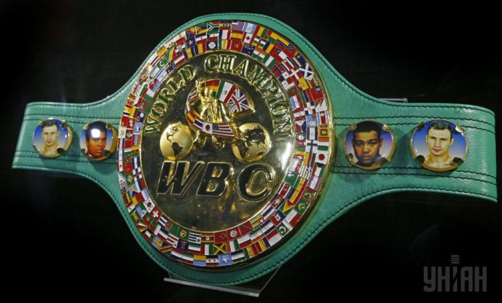 Чемпионский пояс WBC. Находился в собственности Виталия Кличко в 2004 и 2008-2014 годах