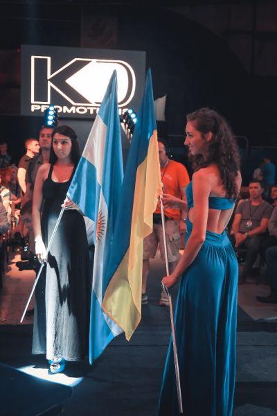 Флаги Аргентины и Украины