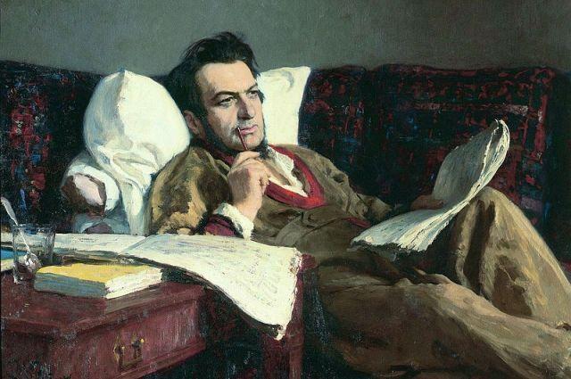 Репродукция портрета Глинки работы Ильи Репина.