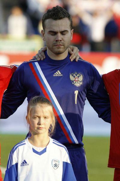 Основной вратарь сборной России и московского ЦСКА Игорь Акинфеев.