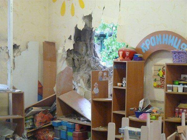 Разгромленный детский сад в Славянске