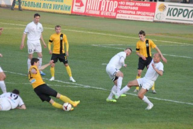 Матч «Александрия» – «УкрАгроКом» в рамках Первой лиги по футболу