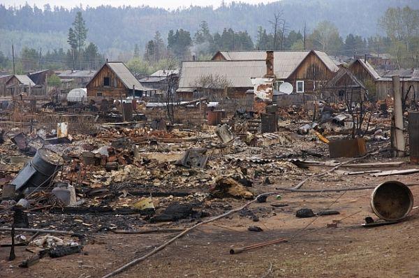 59 жителей поселка Дальний остались без крова в результате мощного лесного пожара в мае 2014 года.