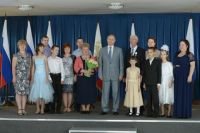 Семья Агаповых и Владимир Путин.