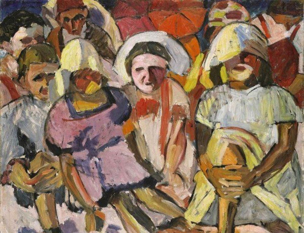 Навечерних торгах Sotheby's другое полотно Аристарха Лентулова— «Дети сзонтами»— ушло за$3,5млн. Это произведение было написано впериод расцвета художественной группы «Бубновый валет», одним изоснователей которой был Лентулов, авдохновением послужило лето, проведенное художников вКрыму в1912году.