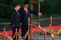 Президент России Владимир Путин и председатель Китайской народной республики Си Цзиньпин.