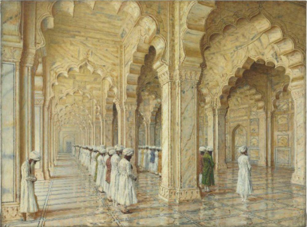 Топ-лотом наChristie's оказалась картина Василия Верещагина «Жемчужная мечеть вАрге», проданная витоге за$6,134млн. Таким образом, это полотно, написанное Верещагиным вПариже вначале 80-х гг. XIXвека, стало самой дорогой изработ художника, когда-либо выставлявшихся наторги.