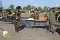 Эвакуация раненых военных