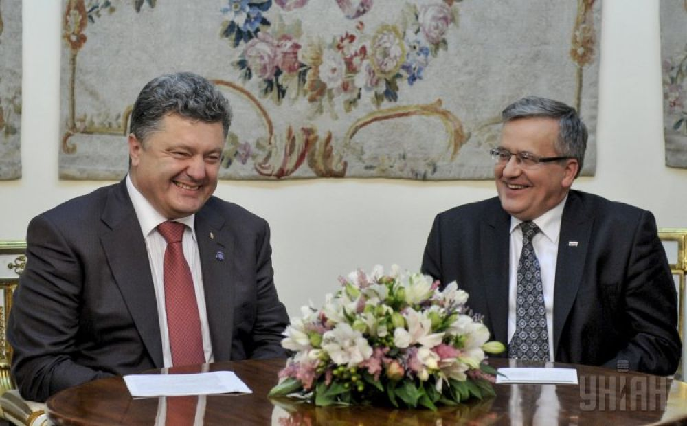 Бронислав Коморовский и президент Украины