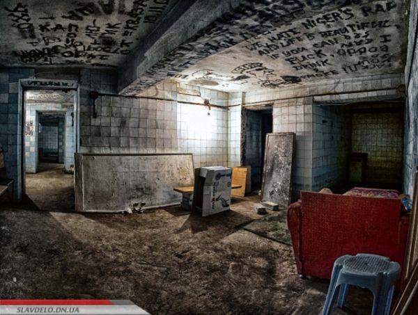 Бомбоубежище в Славянске