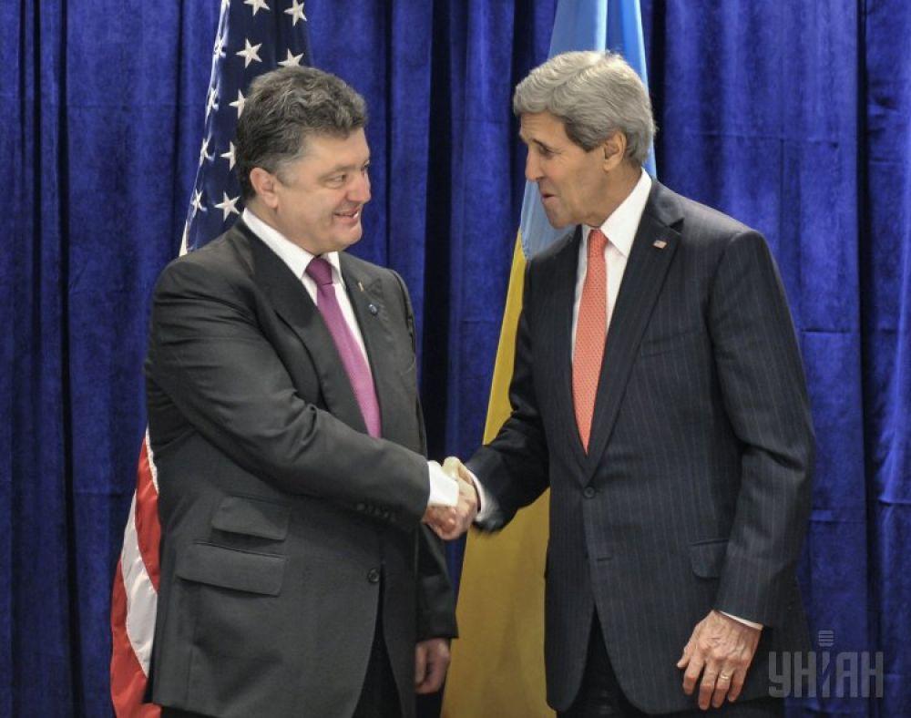 Госсекретарь США Джон Керри и президент Украины