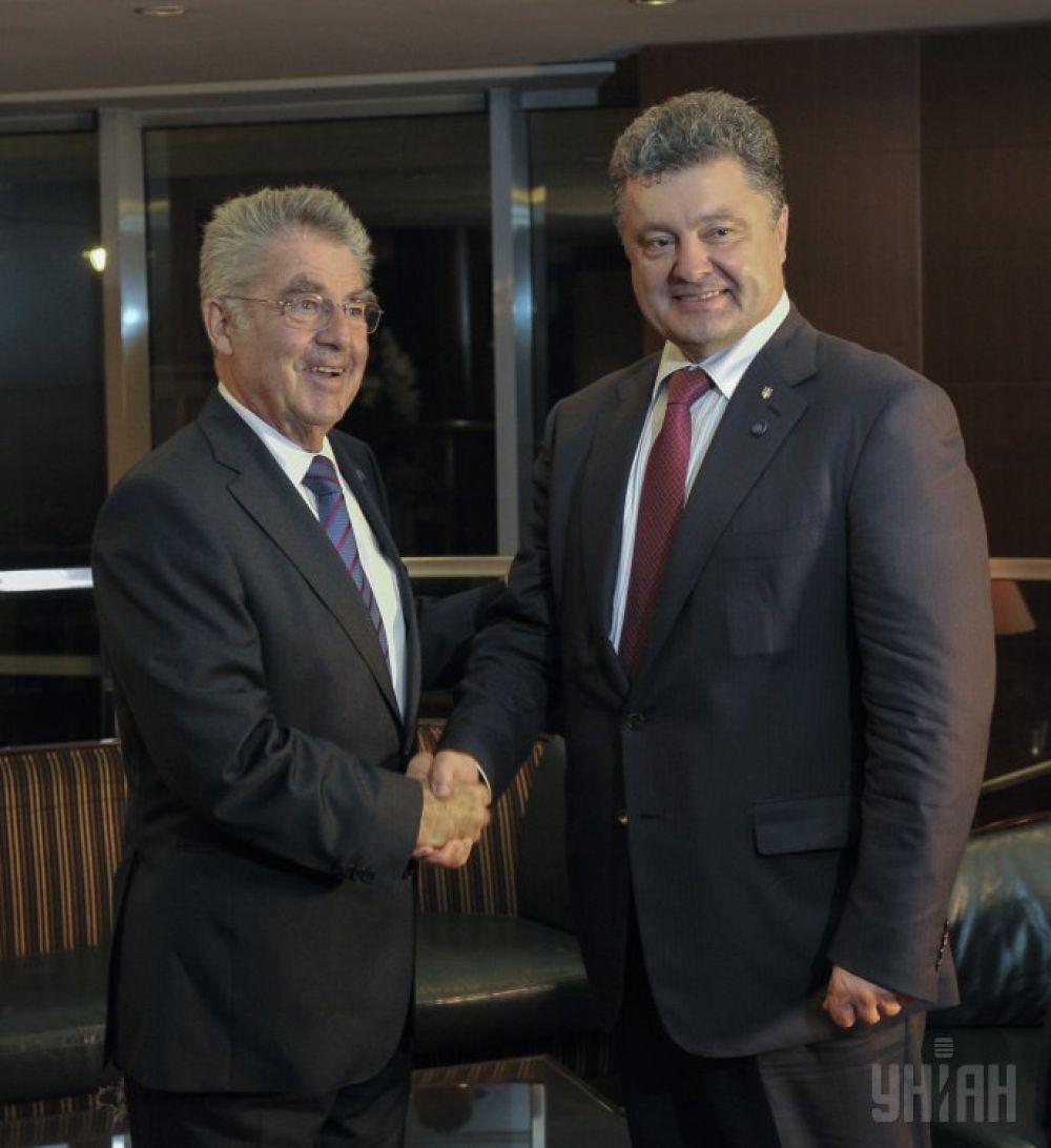 Петр Порошенко и Хайнц Фишер