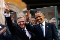 Бронислав Коморовский и Барак Обама.
