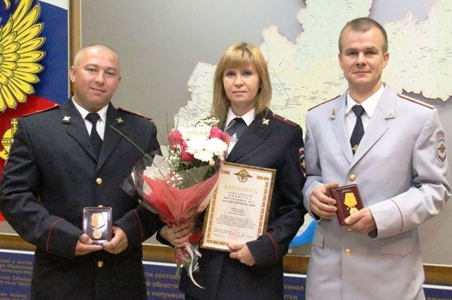 Сегодня полицейские получили свои награды.