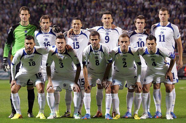 Команда Боснии и Герцеговины по футболу.
