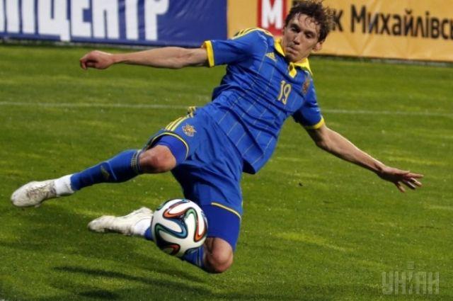 Игрок сборной Украины по футболу