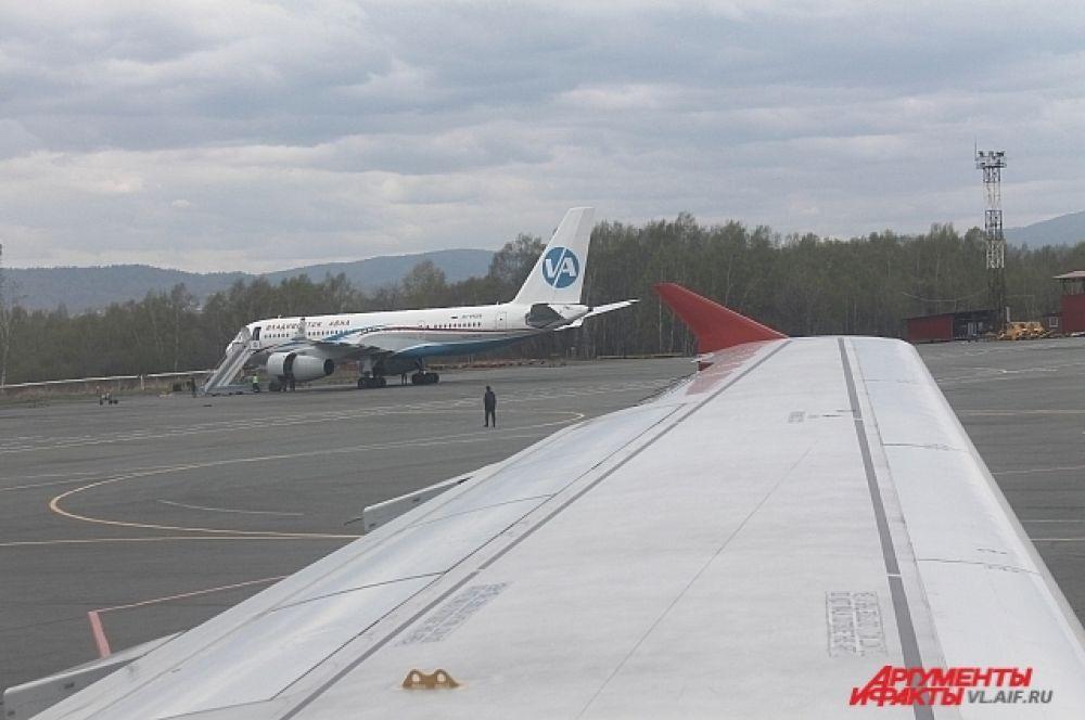 Через мгновение - взлёт! Аэропорт Владивосток.