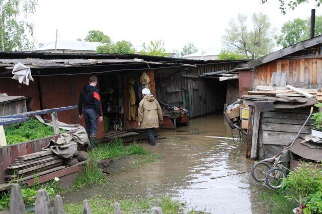 Наводнение в Затоне (Барнаул).