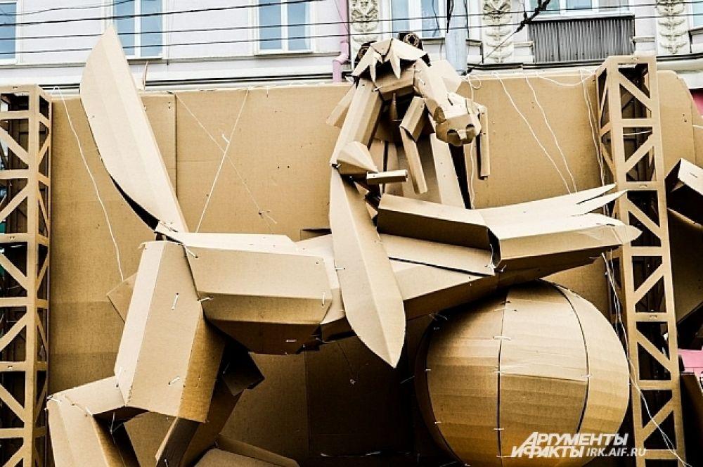 Потрясающий воображение картонный бабр от Страны картонии.