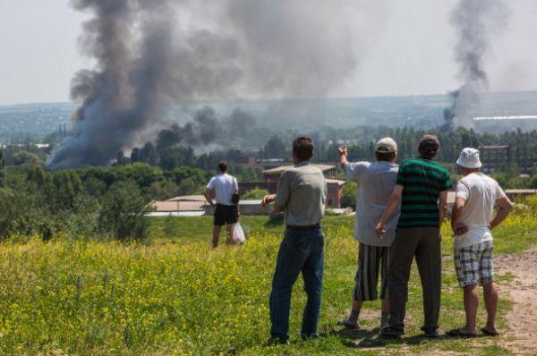 Очевидцы утверждают, что киевская армия использовала систему залпового огня «Град».