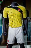 Колумбия в качестве основной формы будет использовать бело-жёлтую расцветку с элементами чёрного цвета – прежде игроки этой страны выступали в шортах тёмно-синего цвета.