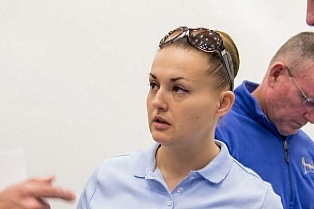Елена Серова в Космическом центре (г. Хьюстон).