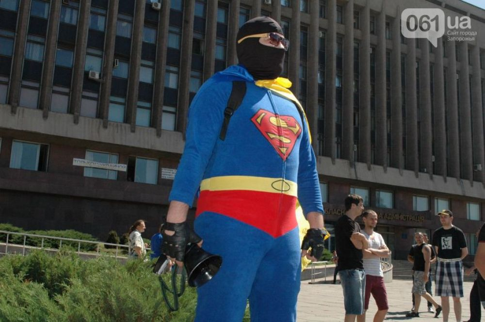 Супермен оказался проукраинским активистом