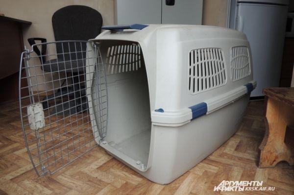 Контейнер для транспортировки собак-спасателей.