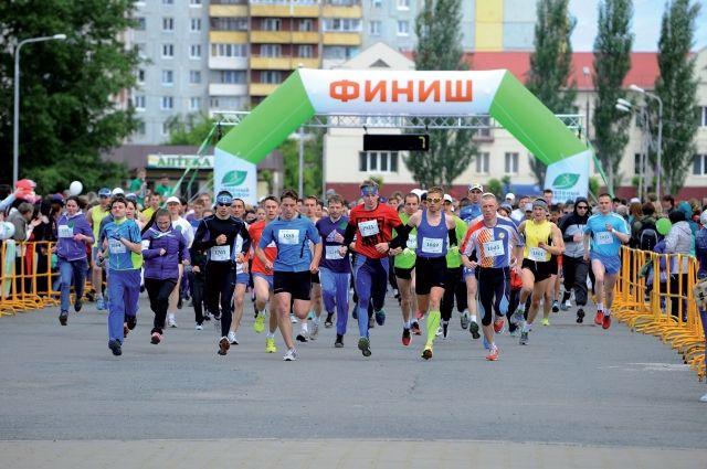 В марафоне приняли участие 2 200 любителей бега.