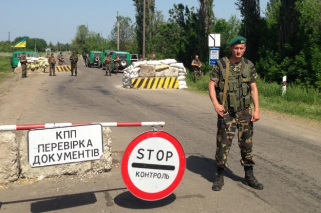 Пограничник на украинской границе
