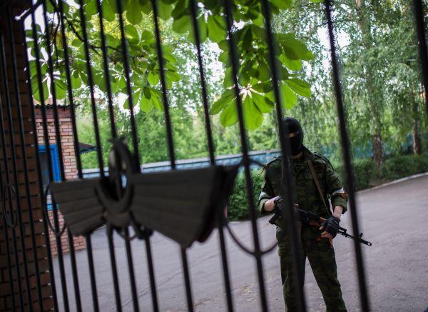 Вооруженные сепаратисты в Славянске