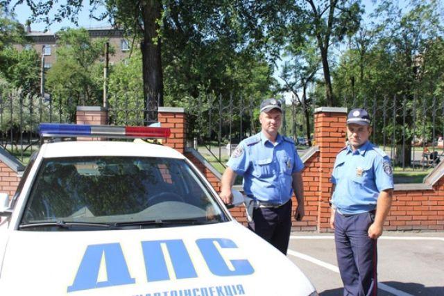 Инспекторы ДПС ГАИ, которые несли дежурство на блокпосту