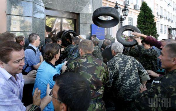 Штурм Госпогранслужбы в Киеве