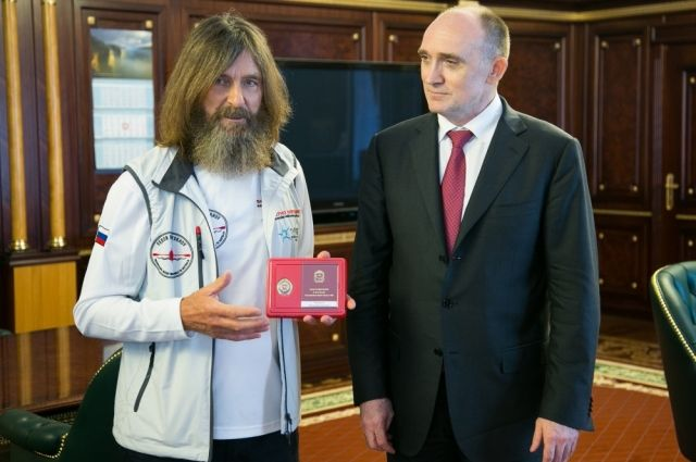 Путешественник Федор Конюхов посетил Челябинск