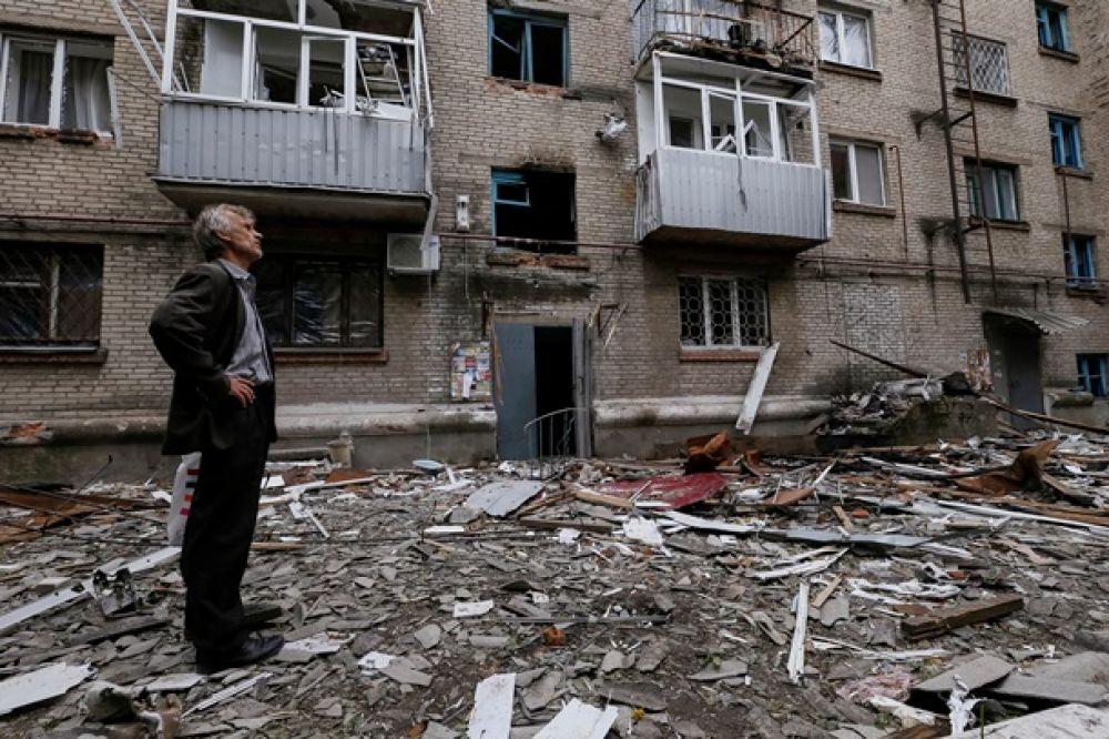 Разрушенный Славянск