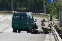Обстрел боевиками машины с пограничниками