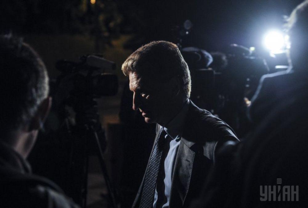 Европейский комиссар по вопросам энергетики Гюнтер Эттингер после газовых переговоров между главами «Нафтогаза» и «Газпрома»