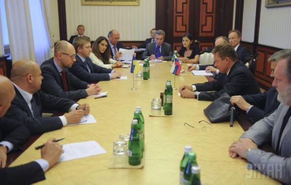 Газовые переговоры между главами «Нафтогаза» и «Газпрома»